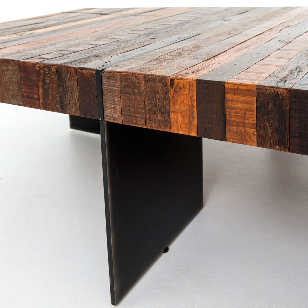 Suffolk Simplicity Reclaimed Wood Square Industrial Coffee: Bina Alec Industrial & Rustic Square Coffee Table