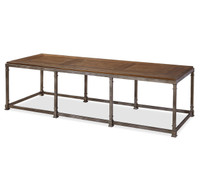 Maison Industrial Metal Leg + Wood Top Large Coffee Table
