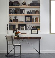 Bina Wright Industrial Modern Wood Office Desk