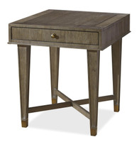 Playlist Vintage Brown Oak 1 Drawer End Table