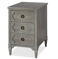 Playlist Vintage Grey Oak 3 Drawers Side Table