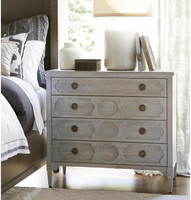 Playlist Vintage Grey Oak 4 Drawers Chest