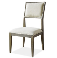 Playlist Vintage Oak Upholstered Dining Side Chair