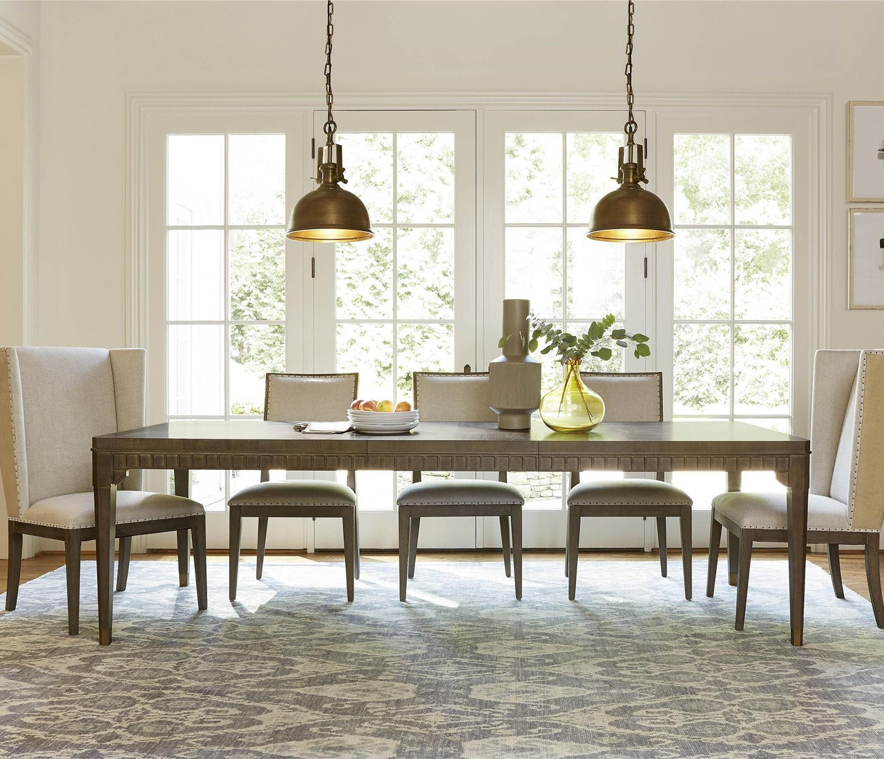 playlist vintage oak extension dining room table 103 zin home. Black Bedroom Furniture Sets. Home Design Ideas