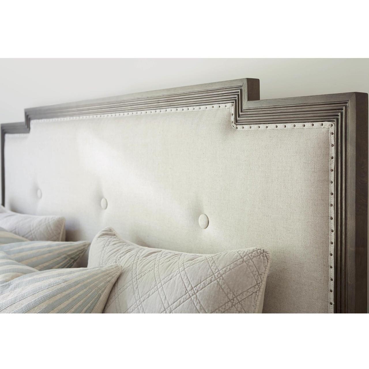 playlist upholstered headboard king panel bed zin home. Black Bedroom Furniture Sets. Home Design Ideas