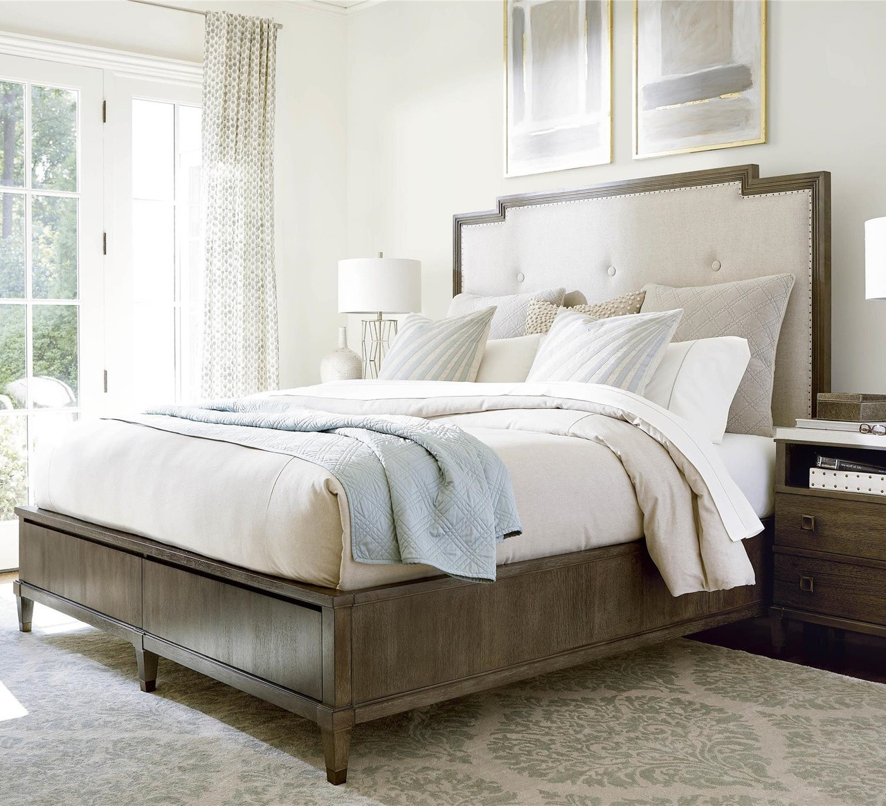 Playlist King Size Upholstered Platform Storage Bed | Zin Home