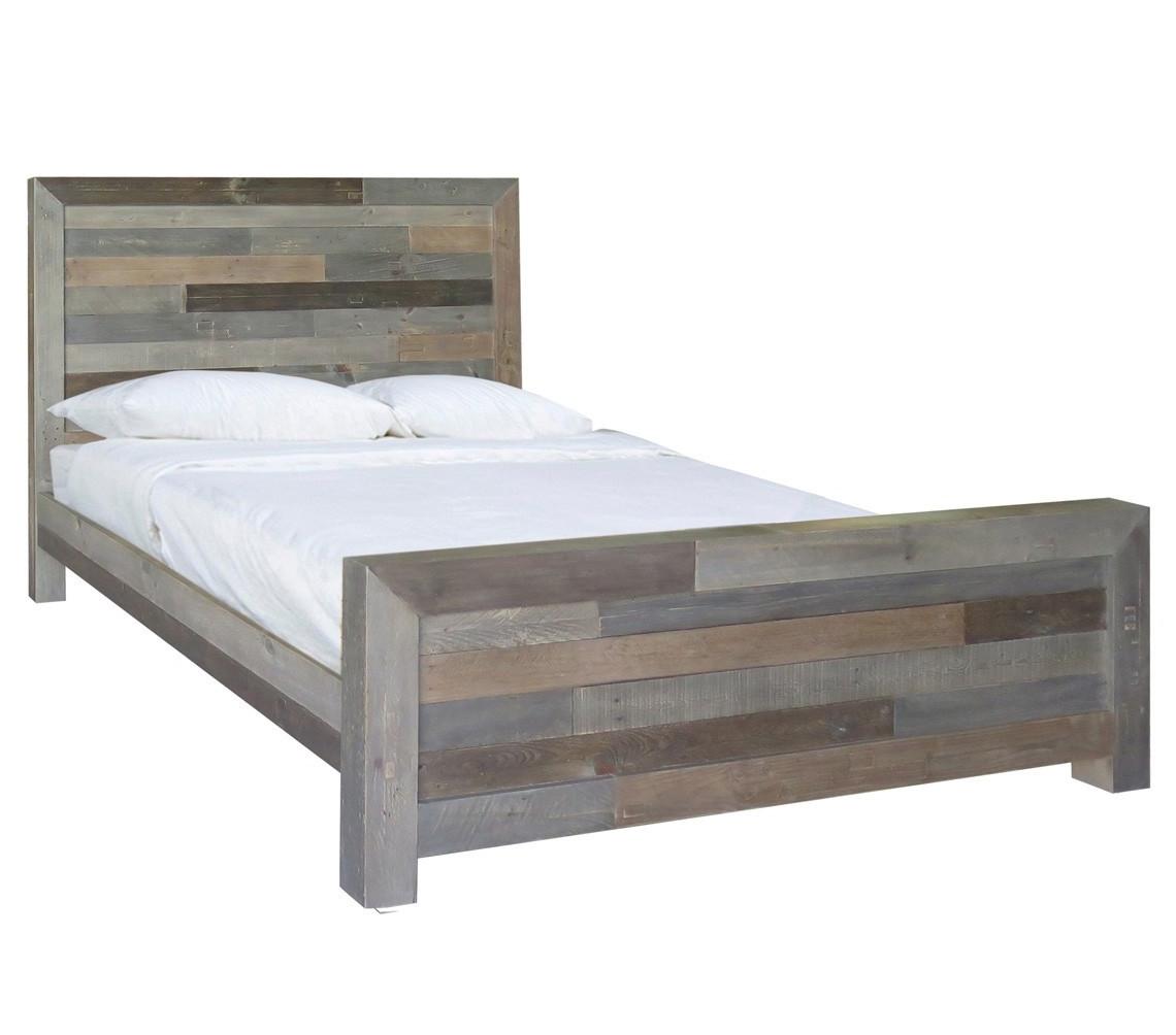 angora reclaimed wood king size platform bedstorm zin home -  angora reclaimed wood king size platform bed frame