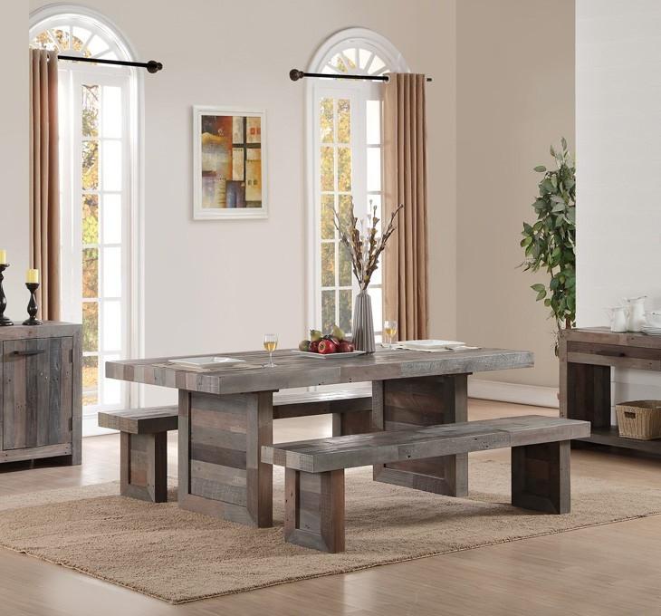 ... Angora Reclaimed Wood Trestle Dining Room Table 82