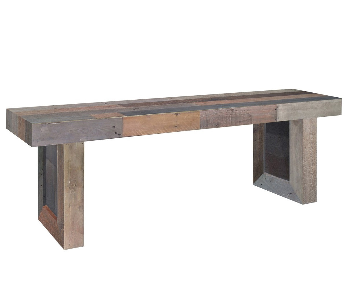 Angora Reclaimed Wood Trestle Dining Bench 71