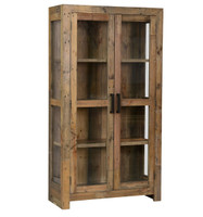 Angora Natural Reclaimed Wood Curio Cabinet