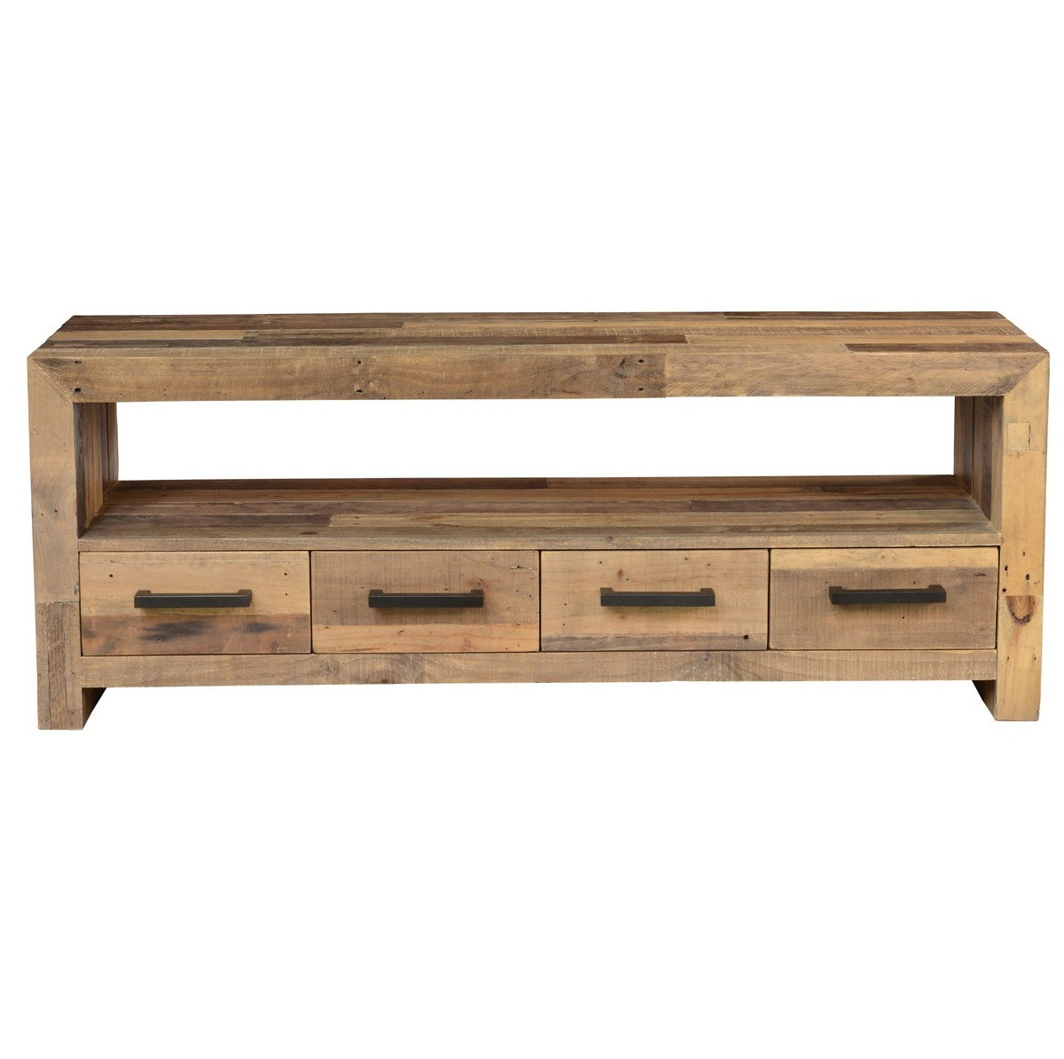 Angora Natural Reclaimed Wood Tv Media Console Zin Home
