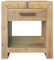 Angora Natural Reclaimed Wood 1 Drawer End Tables