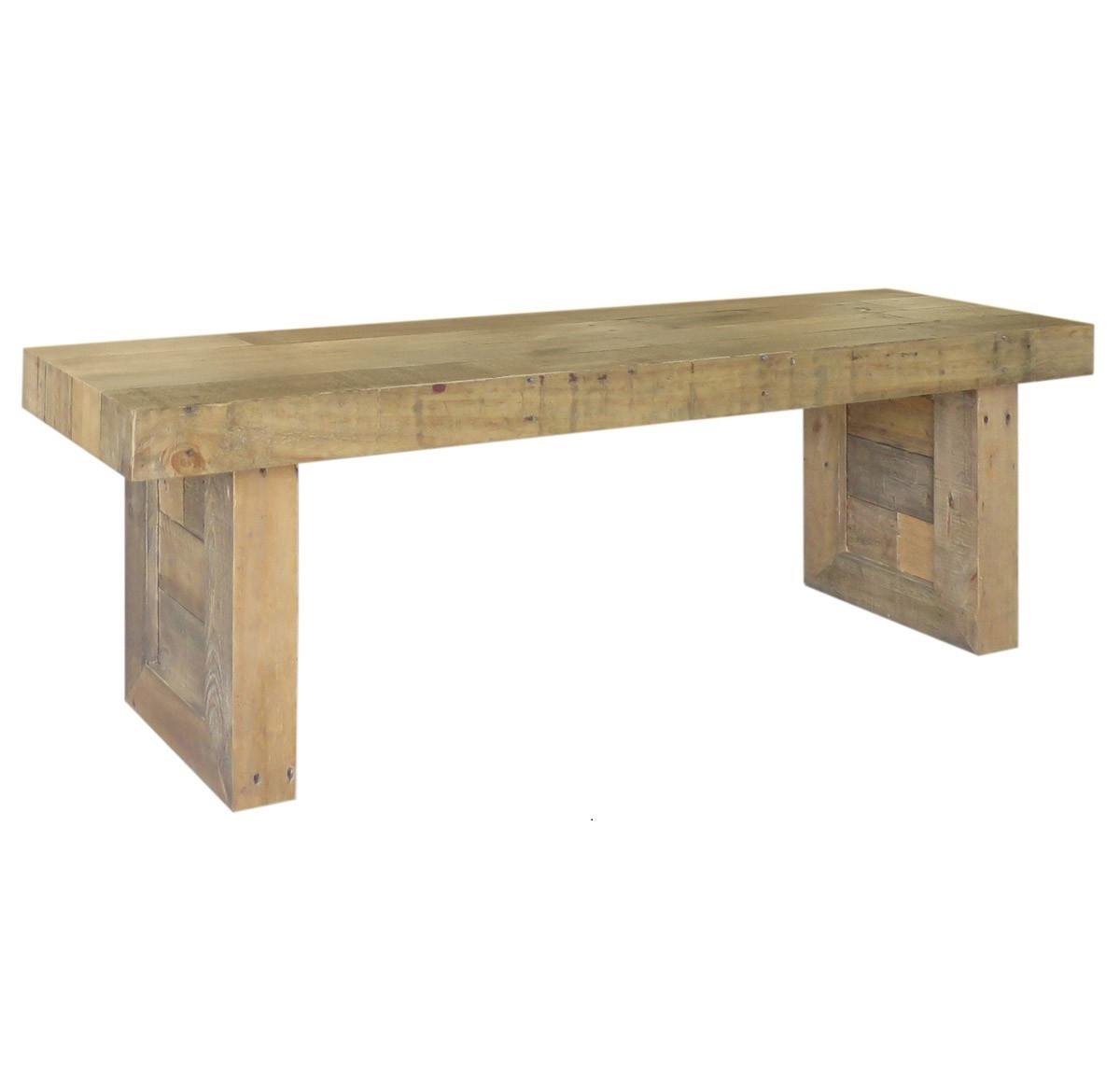Angora Natural Reclaimed Wood Dining Bench ... - Angora Natural Reclaimed Wood Dining Bench 55