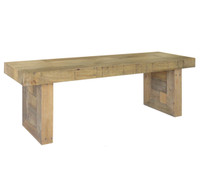 Angora Natural Reclaimed Wood Dining Bench