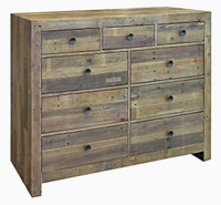 Angora Natural Reclaimed Wood 9 Drawers Dresser