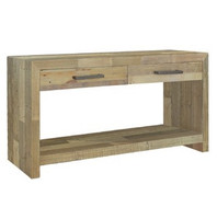 Angora Natural Reclaimed Wood 2 Drawer Console Table