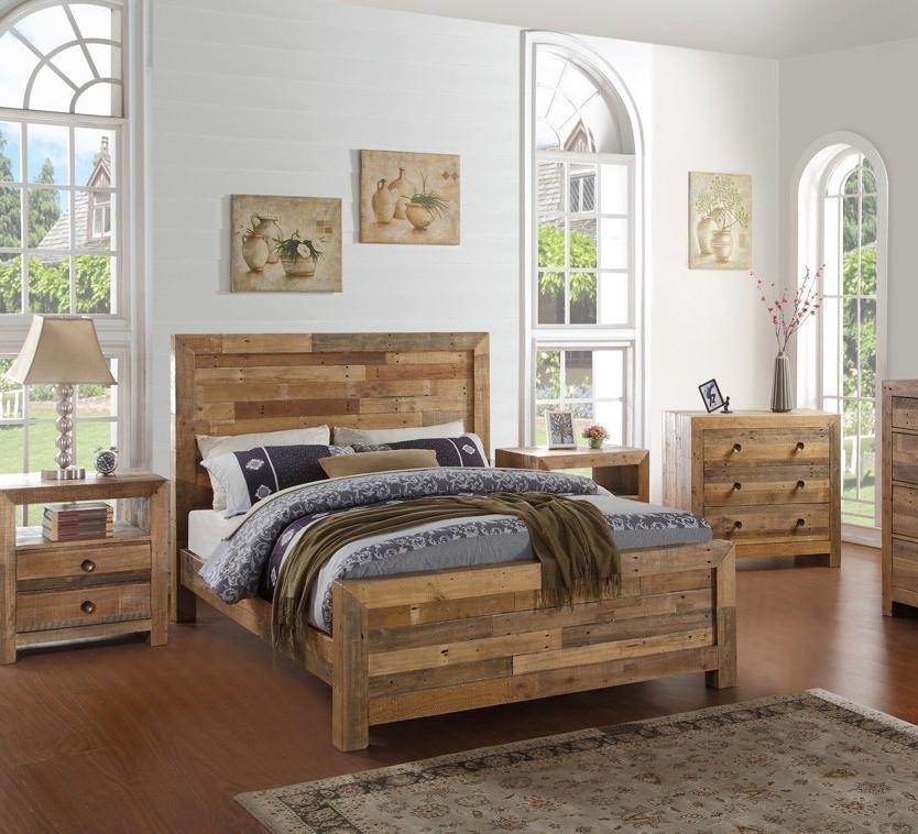 angora natural reclaimed wood queen platform beds