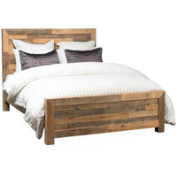 Angora Natural Reclaimed Wood Queen Platform Bed Frame