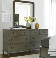 Playlist Vintage Oak 8 Drawers Dresser with Mirror sale