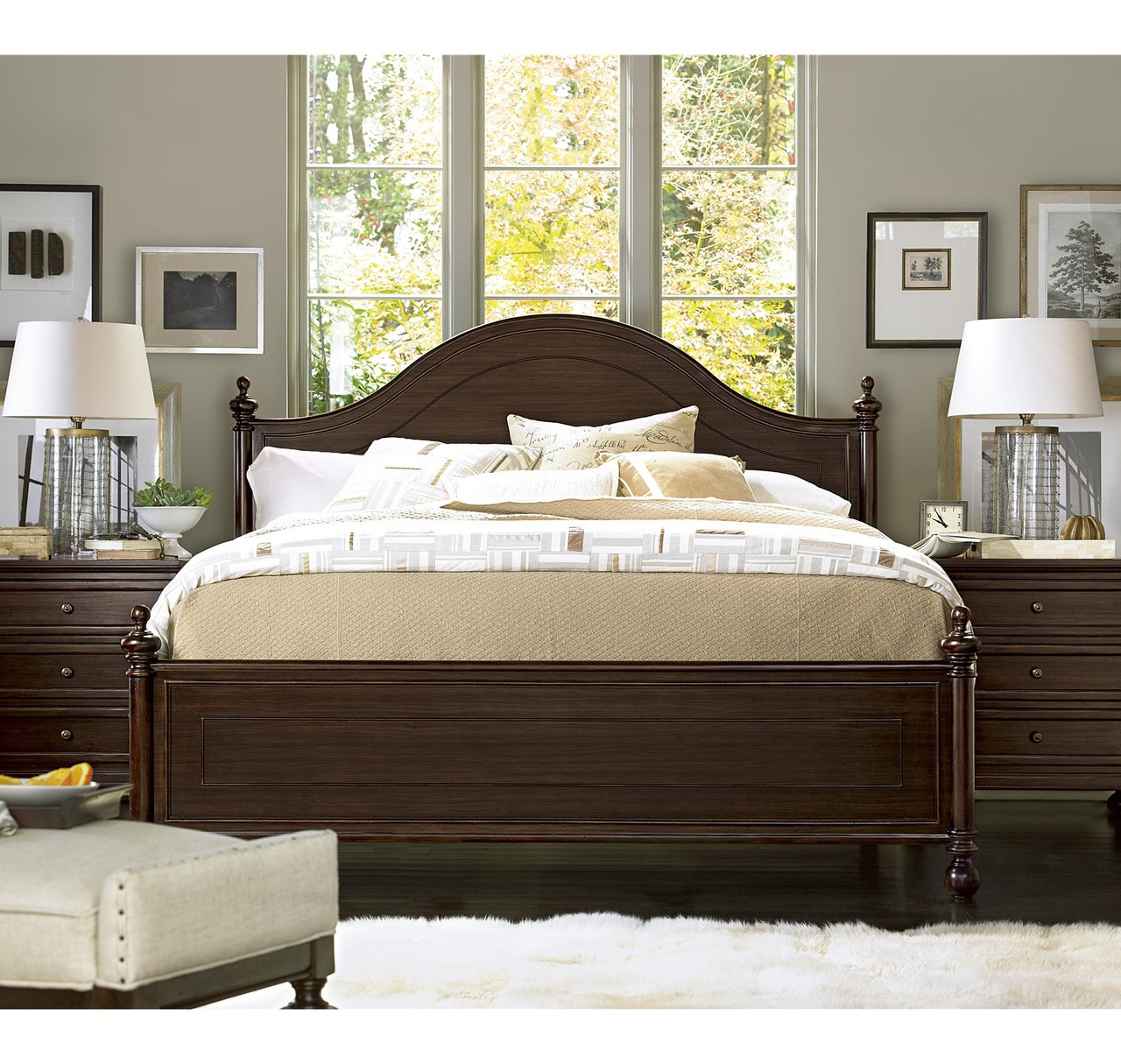 Proximity Arched Queen Poster Bed Zin Home
