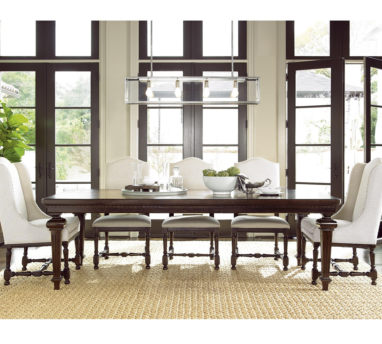 """Cherry Wood Dining Room Table: Proximity Cherry Wood Extending Dining Table 101"""""""