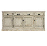 Chateau 4 Door 4 Drawer Sideboard Buffet - Antique White