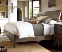 Proximity Antiqued Iron Queen Sleigh Bedroom Set