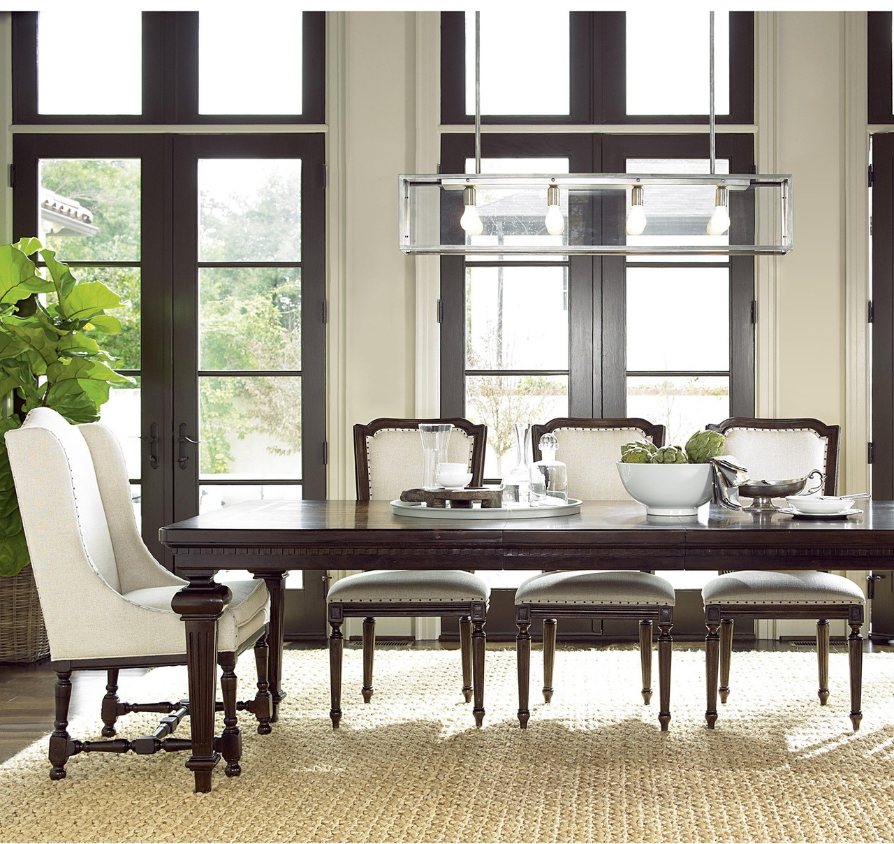 Dining Room Bench Seating With Backs: Proximity Upholstered Woven Back Dining Chair