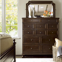 Proximity Cherry Wood Dressing Chest of Drawers with mirror