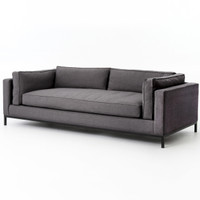 Grammercy Upholstered Modern Deep Sofa - Charcoal
