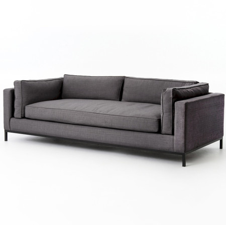 grammercy upholstered modern sofa charcoal zin home. Black Bedroom Furniture Sets. Home Design Ideas