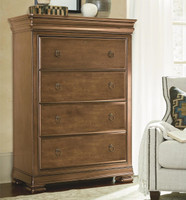 French New Lou, Louis Philippe Solid Wood 4 Drawers Chest