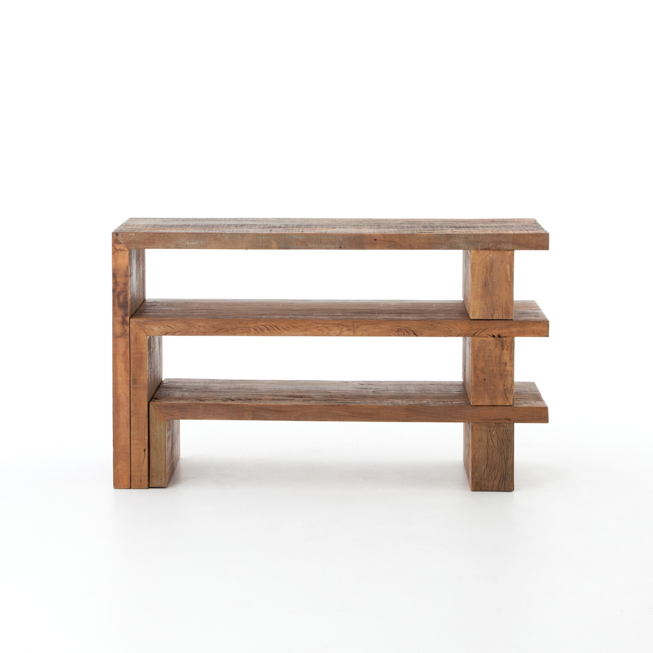 ferris reclaimed wood modular nesting console table  zin home -  ferris reclaimed wood modular nesting console table