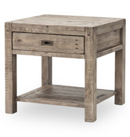 Parsons Reclaimed Wood 1 Drawer Nightstand