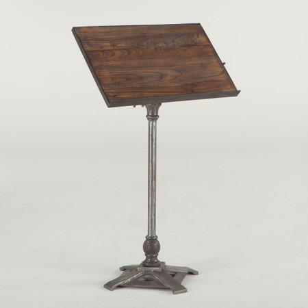 Conductor S Industrial Metal And Wood Music Stand Zin Home