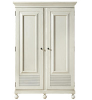 Sojourn French Country White 2 Door Armoire Wardrobe