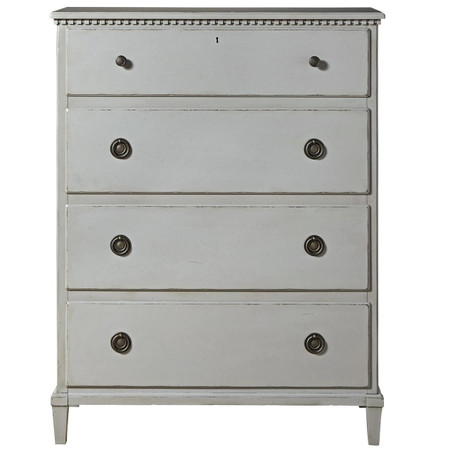 Sojourn French Country 4 Drawers Chest - Gray