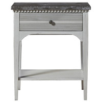 Sojourn French Country Nightstand with Bluestone Top