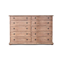 French Solid Wood 10 Drawer Dresser
