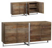 Grant Reclaimed Wood and Stainless steel legs Buffet Sideboard