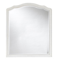 Amity French Oak Wood White Mirror