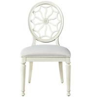 Sojourn Slip Upholstered Medallion Side Chair - White