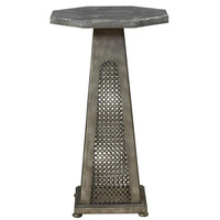 Sojourn French Industrial Bluestone Top Side Table