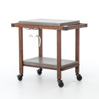 Knox Bar Cart with Concrete Top