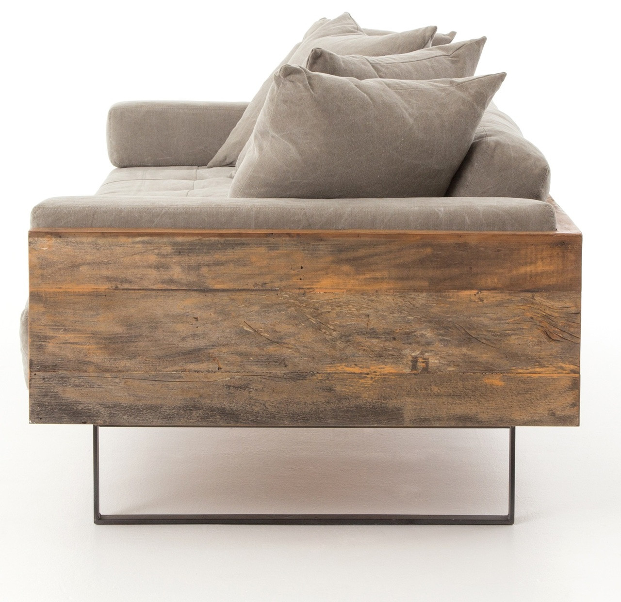 Ranger Industrial Loft Reclaimed Wood Sofa Zin Home