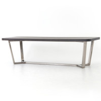 Ashton Lavastone Top Stainless Steel Legs Dining Table