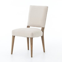 Kurt Linen Upholstered Oak Dining Chair