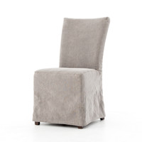 Vista Parsons Slipcovered Dining Chair - Jute