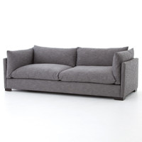 Westworld Loft Gray Silver Lounge Sofa 90""