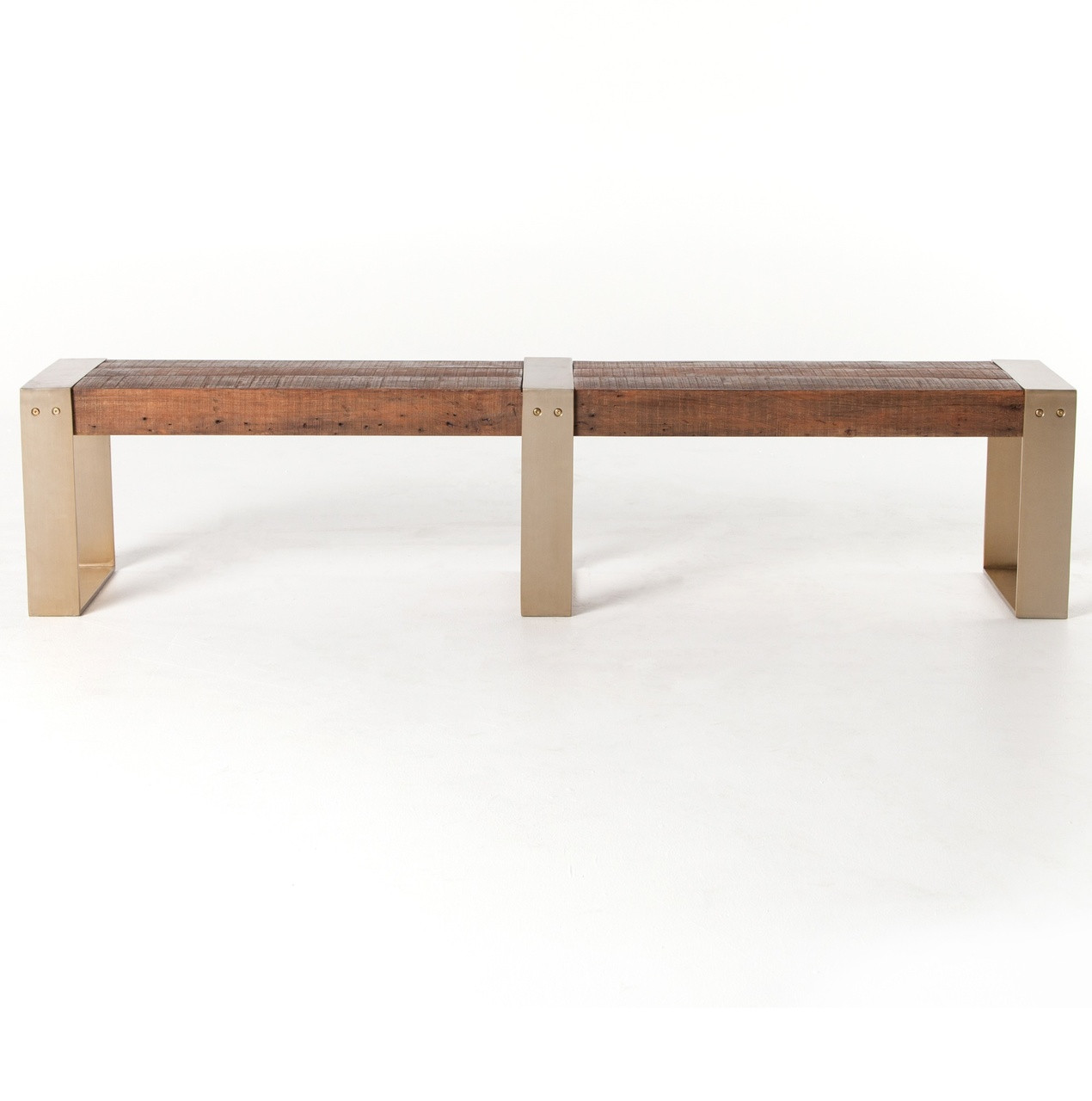 ... Reece Reclaimed Wood Dining Bench with Brass Legs ... - Reece Reclaimed Wood Dining Bench With Brass Legs Zin Home